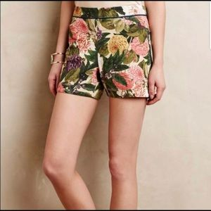 Anthropologie-Elevenses Ranunculus Floral -Shorts